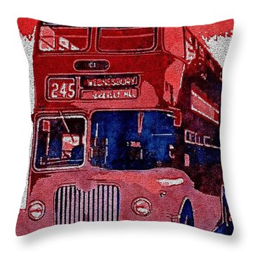 Throw Pillow featuring the painting All Aboard by Mark Taylor