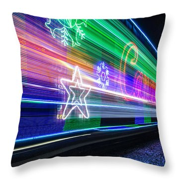 Throw Pillow featuring the photograph All Aboard by Paul Schultz