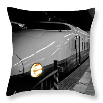 All Aboard Throw Pillow by Sebastian Musial