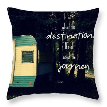 Throw Pillow featuring the photograph All About The Journey by Robin Dickinson