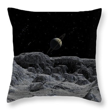 All Alone Throw Pillow by David Robinson