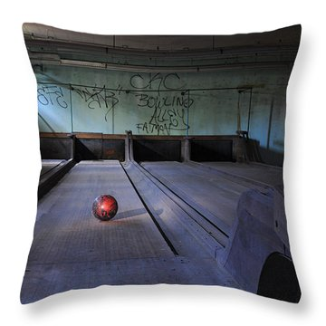 All Alone Throw Pillow by Luke Moore