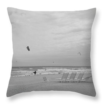 All Alone Throw Pillow by Rob Hans
