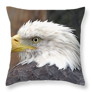 All American Bird Throw Pillow