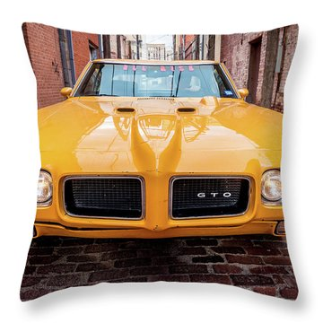All American Muscle Throw Pillow
