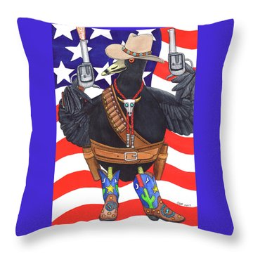 All American, Rootin' Tootin' Shootin' Coot Throw Pillow