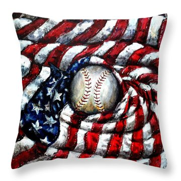 All American Throw Pillow by Shana Rowe Jackson