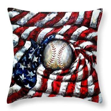 All American Throw Pillow by Shana Rowe Jackson