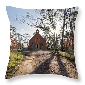 Throw Pillow featuring the photograph All Are Welcome by Linda Lees