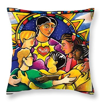 All Are Welcome - Mmaaw Throw Pillow