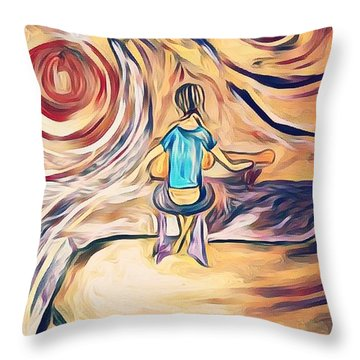All Around Me Throw Pillow
