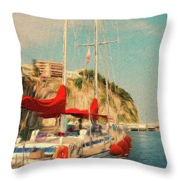 All Ashore Throw Pillow by Jeffrey Kolker