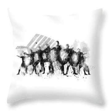 All Blacks Haka Throw Pillow