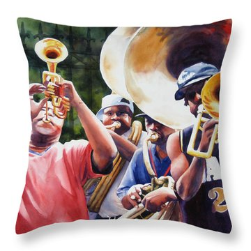 All Brass Throw Pillow by Sue Zimmermann
