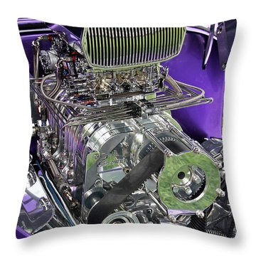 All Chromed Engine With Blower Throw Pillow