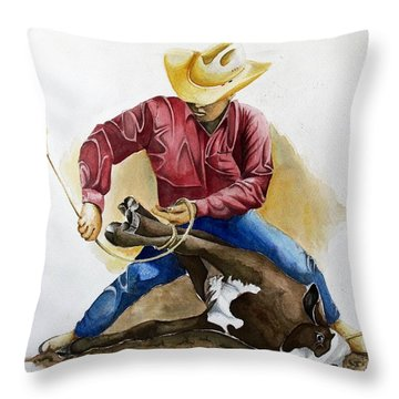 All Cinched Up Throw Pillow by Jimmy Smith