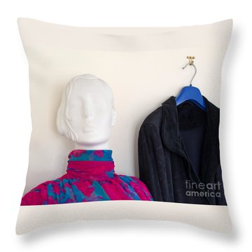 All Dolled Up Throw Pillow by Ann Horn