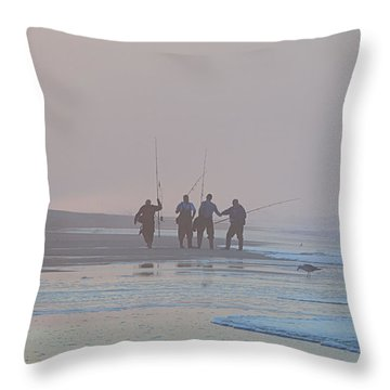 Throw Pillow featuring the photograph All Done by  Newwwman