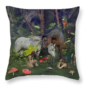 All Dreams Are Possible Throw Pillow by Betsy Knapp