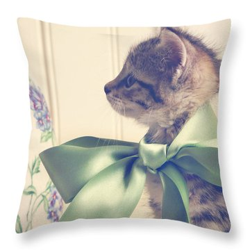 All Dressed Up Throw Pillow by Amy Tyler