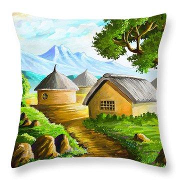 All Gone To Farm Throw Pillow