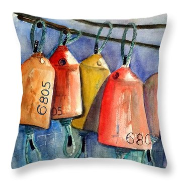 All Hung Up Throw Pillow