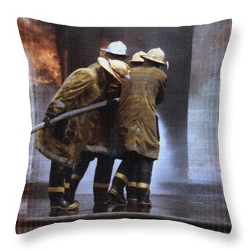 All In A Days Work Throw Pillow by Donna Proctor