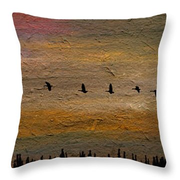 All In-a-row Throw Pillow by R Kyllo