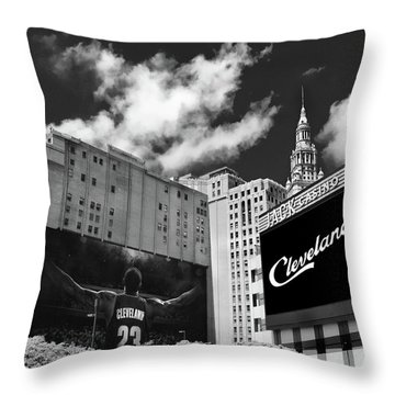 All In Cleveland Throw Pillow