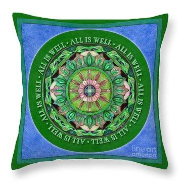 All Is Well Mandala Prayer Throw Pillow
