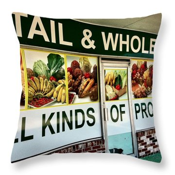 All Kinds Of Produce Throw Pillow by Carlos Avila