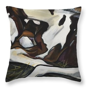 All Legs And Spots Throw Pillow