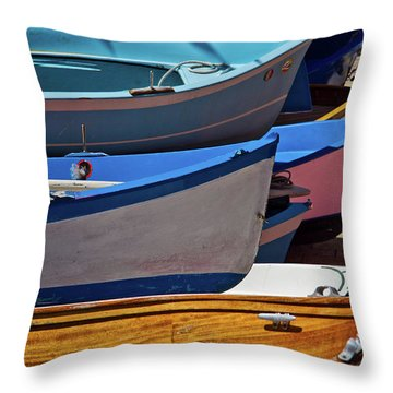 All Lined Up Throw Pillow by Roger Mullenhour