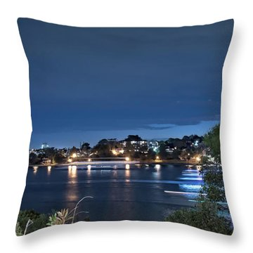 Throw Pillow featuring the photograph All Lit Up by Elaine Teague