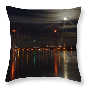 All Lit Up II Throw Pillow by Greg DeBeck