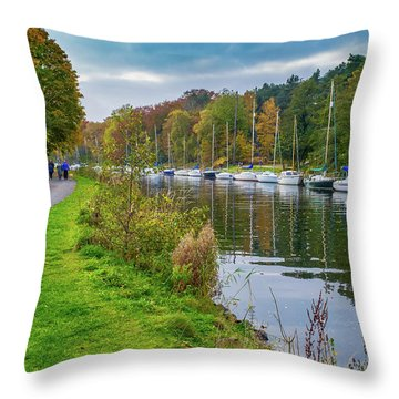 All Moored Up Throw Pillow