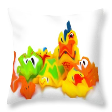 All Of A Blur Throw Pillow