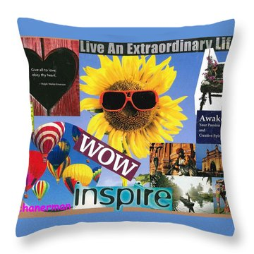 All Of Life Can Inspire Throw Pillow