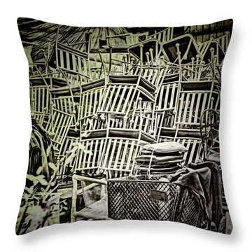 Throw Pillow featuring the photograph All Piled Up by Lewis Mann