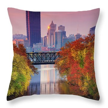 All Pittsburgh Pink  Throw Pillow