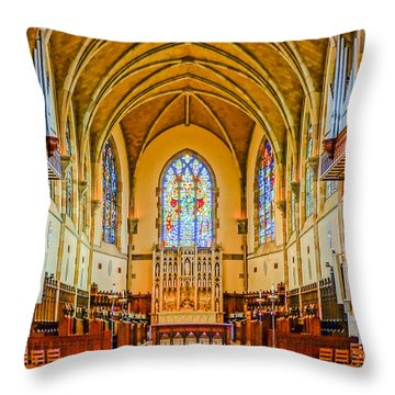 All Saints Chapel, Interior Throw Pillow