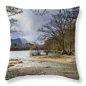 Throw Pillow featuring the photograph All Seasons At Loch Lomond by Jeremy Lavender Photography