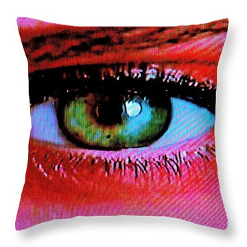 All Seeing Throw Pillow by Xn Tyler