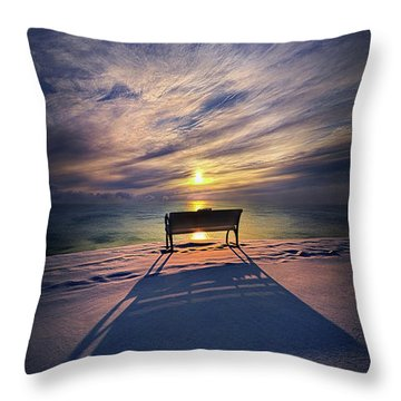 Throw Pillow featuring the photograph All Shadows Chase Swift by Phil Koch