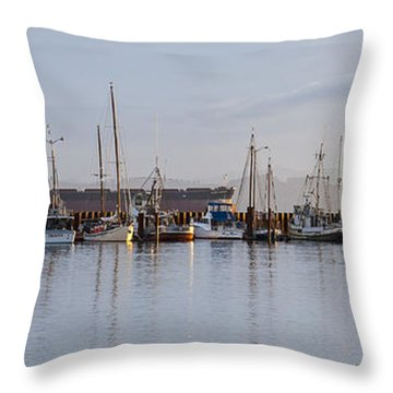 All Ships Big And Small Throw Pillow