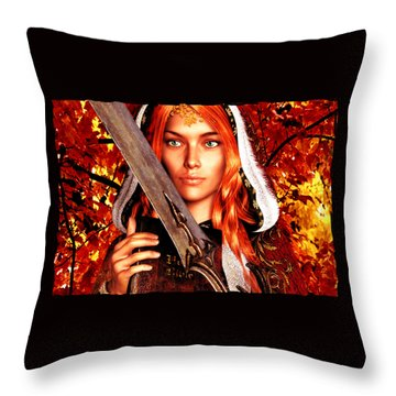 All Souls Day Saint Dymphna Throw Pillow