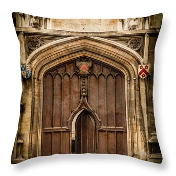 Oxford, England - All Souls Gate Throw Pillow