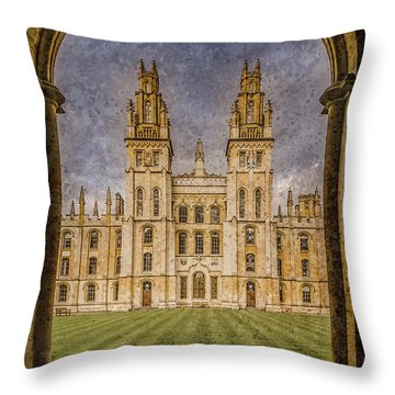 Oxford, England - All Soul's Throw Pillow