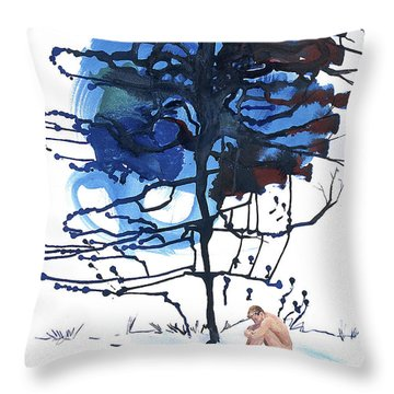 Throw Pillow featuring the painting All That I Really Know by Rene Capone
