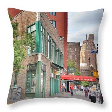 All That Jazz - Greenwich Village Vangaurd  Throw Pillow